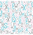 Colorful alphabet letters seamless pattern vector image