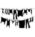 drying clothes vector image