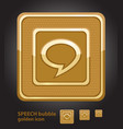 glamour golden icon - speech bubble vector image