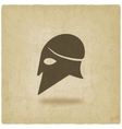 helmet icon old background vector image