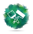 Paint roller and brush icon vector image