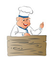 pig chef giving ok gesture vector image