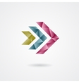 Triangle style arrow sign on a white background vector image