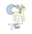 type stay star wih unicorn hand drawn sketch vector image