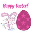 Purple Happy Easter Bunny vector image vector image
