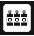 Printer ink bottles icon simple style vector image