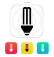 CFL light bulb icon vector image