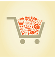 Holiday a cart vector image vector image