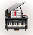 vector grand piano xxl icon vector image