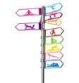 Signpost fitness concept vector image