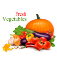 autumn background with fresh vegetableses vector image vector image