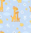 Giraffes seamless pattern vector image