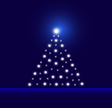 Glowing-tree-blue vector image