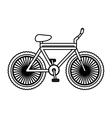 Isolated and silhouette bike design vector image