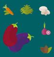 vegan food nature restaurant fruit vegetarian vector image