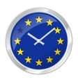 BREXIT clock face with EU flag vector image