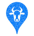 cattle marker icon grunge watermark vector image