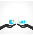 business graph concept vector image