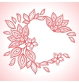 Delicate lace background abstract ornament vector image