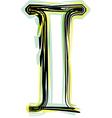 font letter I vector image vector image