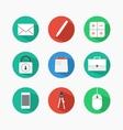 Flat icon design vector image