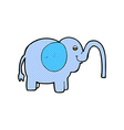 comic cartoon elephant squirting water vector image