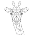 Decorative polygonal giraffe silhouette vector image