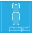 Dress sign  White section of icon on vector image