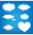 Big Set Clouds vector image
