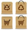 Brown Paper Shopping Bag Set vector image