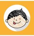child head vector image