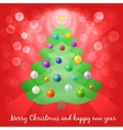 Christmas tree in lights vector image