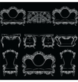 collection of Baroque style armchairs vector image