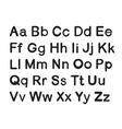 english alphabets vector image