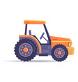 excavator tractor vehicle isolated on white vector image