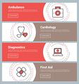 Flat Design Concept Set of Web Banners Ambulance vector image