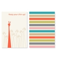 Funny and positive creative greeting card vector image