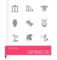 greece icon set vector image