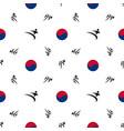 seamless pattern taekwondo vector image