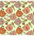The pattern of forest bears vector image