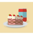 Cake and soda design vector image
