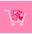 Love a cart vector image vector image