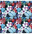 Lily an hibiscus flower pattern vector image