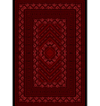Carpet with a pattern red roses vector image