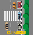 bad or wrong car parking vector image
