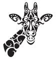 Decorative ornamental giraffe silhouette vector image