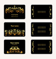 gold business card collection vintage style vector image