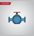 isolated pipe pump valve flat icon flange vector image