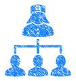 patients nurse hierarchy grunge icon vector image