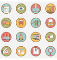 Set of retro business icons - part 1 vector image